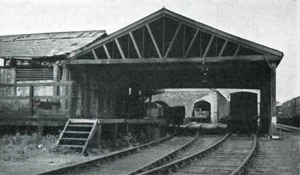 Dock Street Railway Station, Newport, closed to passengers in 1880, photographed August 4th 1952, the centenary of its opening