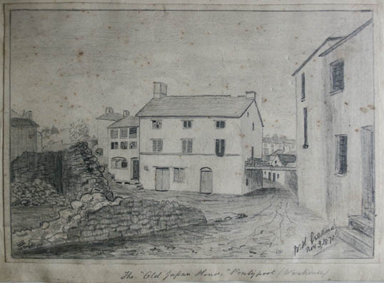 the old japan house pontypool warehouse   sketch by